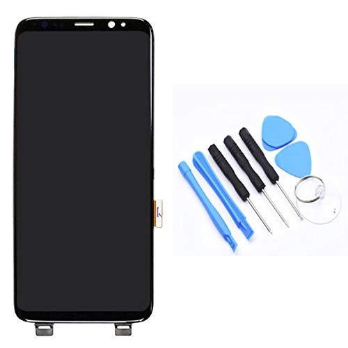 FairytaleMM LCD-Anzeigen-Screen-Analog-Digital wandler ohne Rahmen Handy-Ersatzteile für Samsung S8 Plus-G955F / G955AVTP(Schwarz)