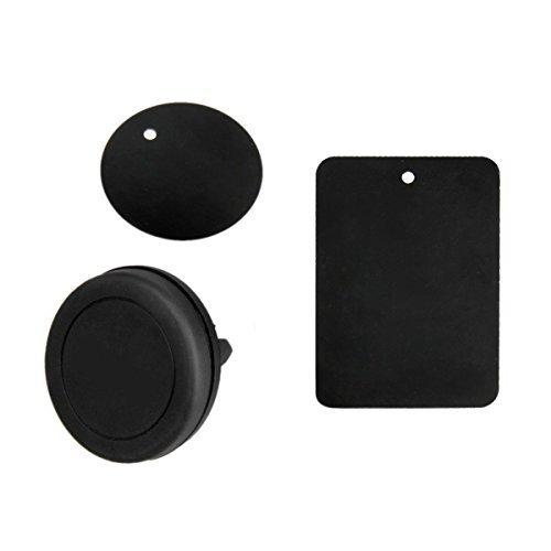 Car Mount  Universal Vent Vent Teléfono Móvil Magnético Car Mount Holder para iPhone 6s Plus 6s 5s Samsung Galaxy S7 y otros teléfonos inteligentes (negro)