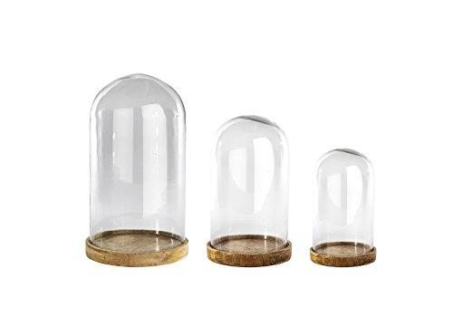 Inu decorativo Campana de cristal–cristal transparente–grande 38x 21,5cm (de diámetro)