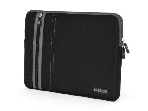 COOL BANANAS RainSuit Stripes Tasche für MacBook Air 11 Zoll | Sleeve | Hülle aus hochwertigem Neopren für perfekten Schutz | passgenau | Farbe Schwarz