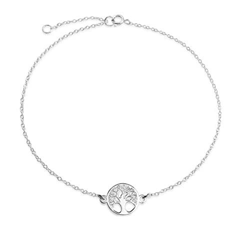 Celtic Tree of Life Anklet 925 Silver Adjustable 10in
