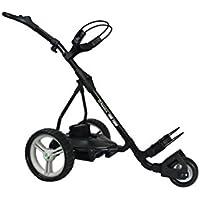PowerBug P6 Pro Tour - Carro de golf eléctrico con mini batería, color negro