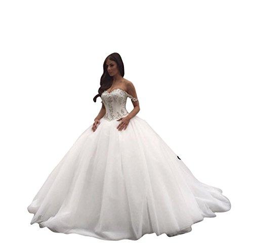 Changjie Damen 2018 Hochzeitskleid Prinzessin Geschwollen Kleidung Kleider Brautkleid