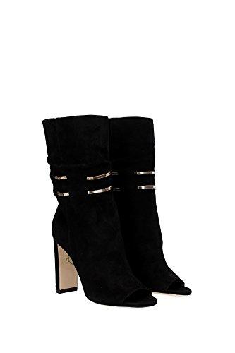 MYSEN100DMHBLACK Jimmy Choo Chaussure mi montantes Femme Chamois Noir Noir