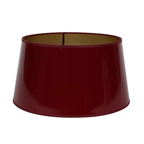 Lampenschirm n-drum 35-29-18 cm LACK rot/gold -