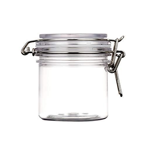 Gesichtsmaske Jars runder freier PET Kunststoff Verschluss Deckel kosmetische Speicher Hermetic Gläser mit Locking Cannister Stil Deckeln für Schönheit und Lebensmittel Verwendung 300ml 2Pcs