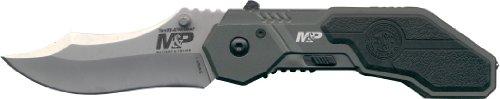 Preisvergleich Produktbild Smith and Wesson Einhandmesser SWMP1, halbautomatisch, Stahl 4034, Aluminium-Schalen, Clip