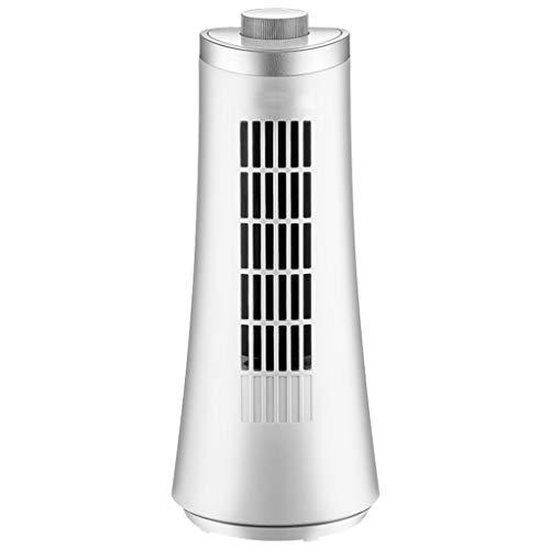 Standventilator Silent Industrieventilator Klimaanlagen-Turm-Ventilator-tragbarer energiesparender Stummer kein Akten-Schreibtisch des Blatt-2 (30x13) Cm Weiß