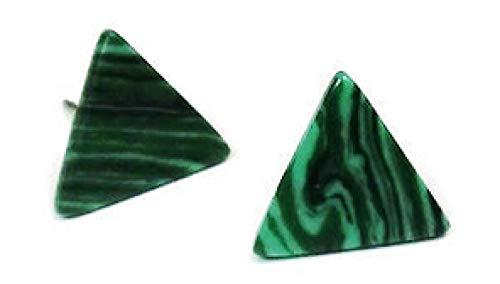 Ohrringe Mode Neuheiten Grün Weiß Blau Dreieck Einfache Faux Marmor Stein Dreieck Ohrstecker Für Frauen, Grün