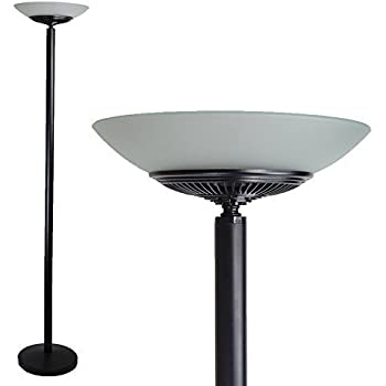 Led floor standing energy efficient floor lamp uplighter torchiere led floor standing energy efficient floor lamp uplighter torchiere black warm mozeypictures Choice Image