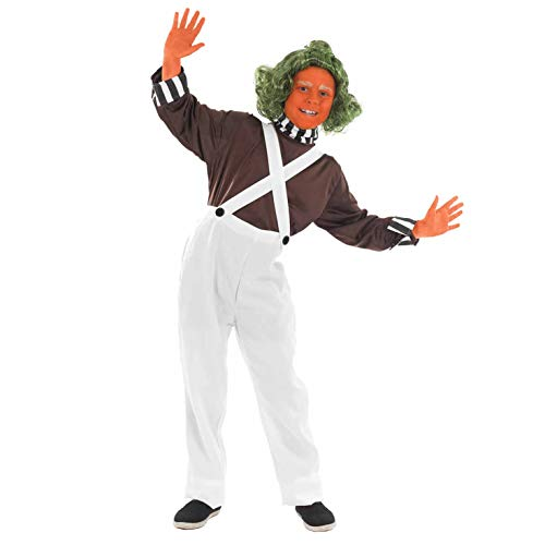 Fun Shack FNK2984XL Kostüm, Jungen, Oompa Loompa, Extra-Groß (Roald Dahl Oompa Loompa Kostüm)