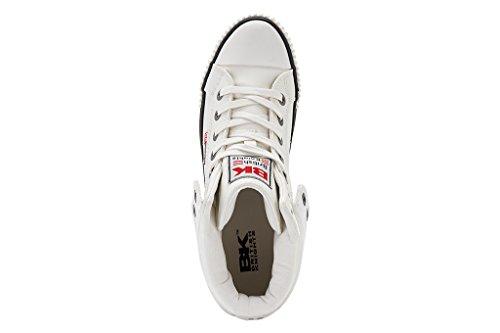 British Knights Roco - Herren Sneaker / High-Top-Schuh Blanc/rouge