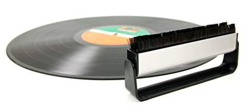 DURAGADGET Spazzola In Fibra Di Carbonio Per Dischi di Vinile / LP + Panno - Alta Qualità