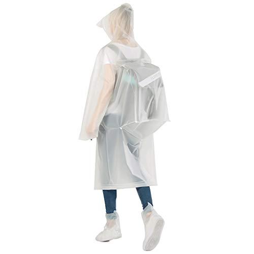 ange Abschnitt Ganzkörper weibliche Modelle Männer Aufruhr Poncho Transparente Fahrrad Reiten (Farbe : Backpack White, größe : XL) ()