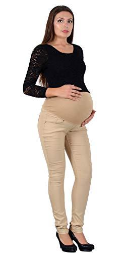 ESRA Damen Skinny Hose Schwangerschaftshose Umstandshose Hose für Schwangerschaft Maternity Hose J530