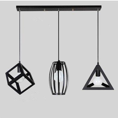 Illuminazione minimalista personalitš€ creativa luci salotto moderno, lampadari in ferro battuto stile industriale lampada bar ristorante lampadario tre