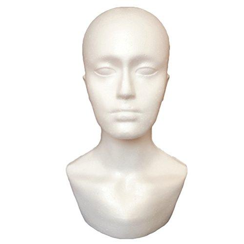 frcolor Mannequin Kopf mit Stecker Face Modell Display Ständer Modell Perücke Mützen Halterung