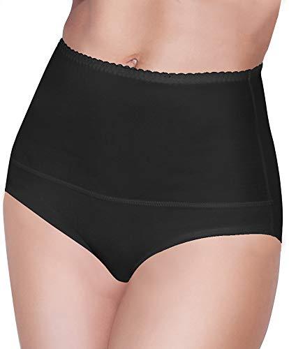 Damen figurenformend Miederslip mit Bauch-Weg-Effekt Stark Formend Miederpants Miederslip Damen Unterwäsche Große Größen (XXL, Schwarz)