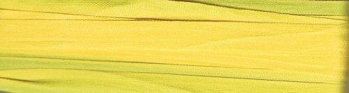 YLI Seidenband–7mm breit x 3m lang–Golden Gelb (Schatten 015) (7 Mm Seidenband)