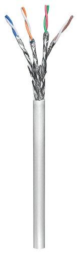 Goobay 93953 CAT 6 Netzwerkkabel, S/FTP (PiMF), Grau - CCA Kupfergemisch für SOHO Anwendungen, AWG 26/7 (Stranded), PE, Cable Reel, 100.00m Kabellänge