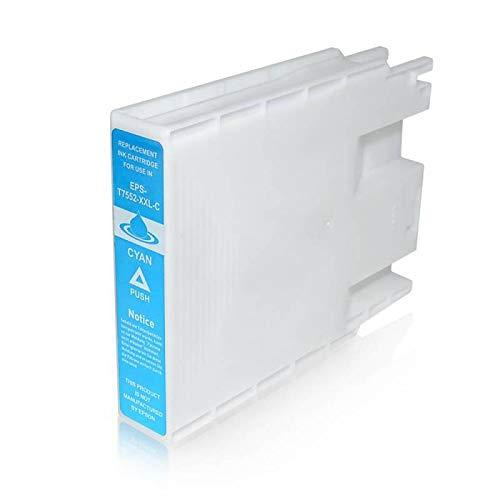 T7552 Cartuccia Compatibile Ciano Per Epson WorkForce Pro WF-8010 WF-8090 WF-8510 WF-8590