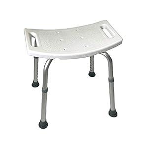 Alu Duschhocker   8-fach höhenverstellbar   Anti-Rutsch-Füße   leicht   bis 150 kg   sicher und standfest   Duschhilfe – Duschstuhl – Duschsitz