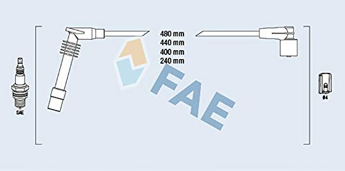 Preisvergleich Produktbild FAE 85084 Zündleitungssatz