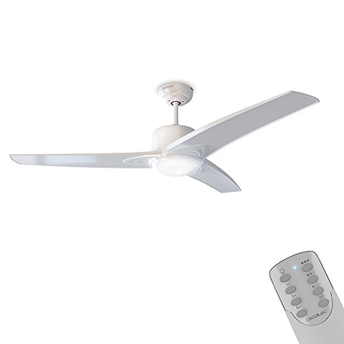 Cecotec Ventilador de techo con luz y mando a distancia, 132 cm...