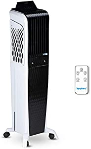 Symphony Diet 3D 55i+ Tower Air Cooler 55-litres with Magnetic Remote, 3-Side Cooling Pads, Auto Pop-up Touchs