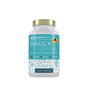 GENUSSMAHL Probiotika – Kulturen-Komplex für Darmsanierung – 10,8 Mrd kbE mit Lactobacillus, Bifidobacterium + Zink, Inulin für eine gesunde Darmflora – Hochdosiert, ohne Zusatzstoffe, made in Germany