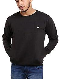 DELHITRADERSS® Selfdesgin Mens Winter Imported Long Sleeves Slim Warm Sweatshirt(Size-L)(Black)