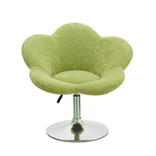 Gj prugna sedia seggiovia bar sedia di velluto stampato sedia per il tempo libero ascensore lavoro sedia da barbiere salone di parrucchiere speciale rotonda sedia girevole (colore : multicolore)