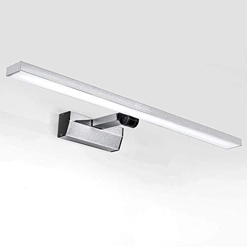 Lightess 21W LED Spiegellampe 60cm Kaltweiß 180° Drehbar Spiegelleuchte Wandmontage IP44 Schranklampe Spiegelschrank Leuchte Badlampe Wandleuchte für Spiegel Badzimmer Schrank usw.