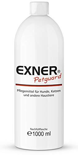 Exner Petguard | Pflegemittel für Haustiere | 1000 ml | DAS Pflegemittel bei Parasitenbefall, Räude, Milben oder Pilzbefall | natürliche Wirkstoffe | Biologisch | Gesundheitsfördernd