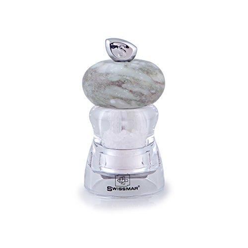 Andrea Acryl Mühle mit Granit Drehknopf (10cm, Salz) -