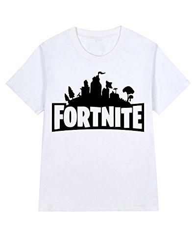 Memoryee fortnite t-shirt a maniche corte per uomo e donna 100% cotone bianca-108 s