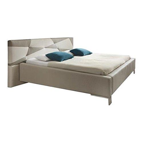 SinoMax XORA Design Doppelbett Bett - 180 x 200 cm Liegefläche - Kunstleder -