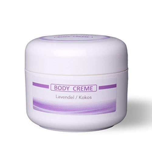 LebeNeo, reichhaltige Body-Creme Lavendel/Kokos für trockene Haut, 50 ml Probiergröße,...