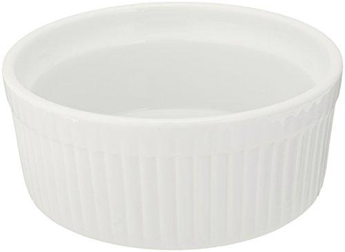 Bia Cordon Bleu 900013 White Porcelain Individual Souffle Bowl, 10 oz, White Bia-souffle