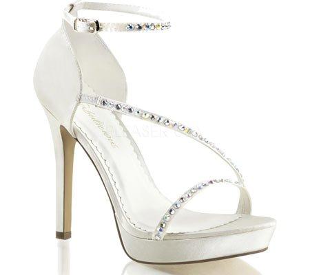 Lumina fabulicious 26 burlesque sexy plateau high heels femme-strass-blanc cassé/35–41 Ivory Satin