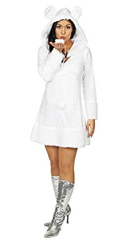 Eisbär Schneeflocke Kostüm für Damen Gr. 36 38 - Hochwertiges Damenkostüm für Theater, Karneval oder (Kostüme Theater Damen)