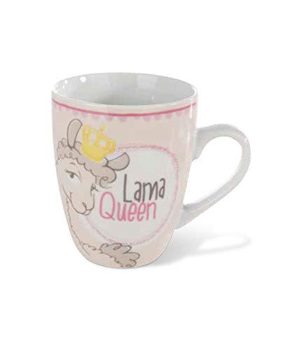 Nici 42264 La Lounge Porzellantasse Dalia Lama Queen, 8 x 10 cm, beige/braun, Größe Füllvolumen 310 ml (gefüllt bis ca. 1 cm unter den Rand)
