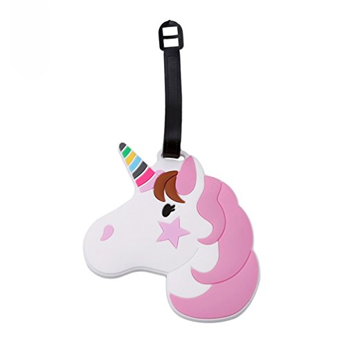 Livecity Unicorn Suitcase ID Label Boarding Travel Portable Luggage Tag (2#)