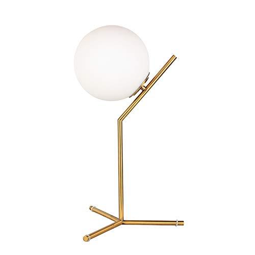 Lámpara de sobremesa minimalista americana con bola de cristal ...