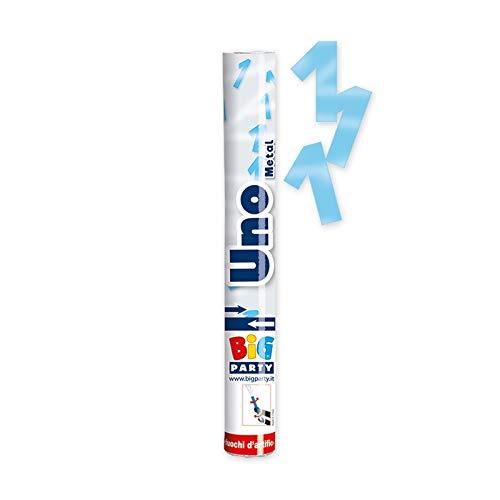 3 Tubi spara coriandoli 1 Anno Celeste Metal 50147 30 cm