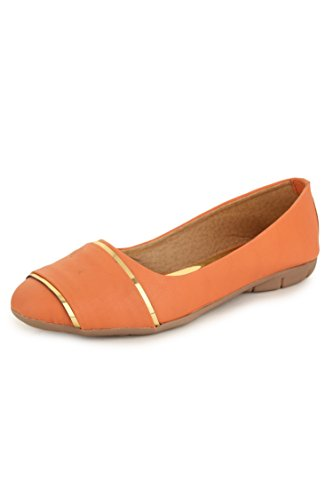 N-Gal Women's Orange Synthetic Court Shoes - 6.5 UK