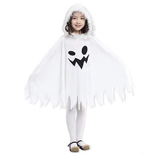 eißes Geister Umhänge Mäntel für Junge und Mädchen Make-up Party Kostüm Geeignet von 100-140 cm ()