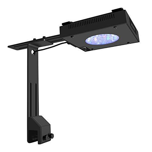 NICREW LED Aquarium Beleuchtung 50W, Steuerbar Vollspektrum Korallenriff Lampe für Salzwasser und Süßwasser Aquarien -