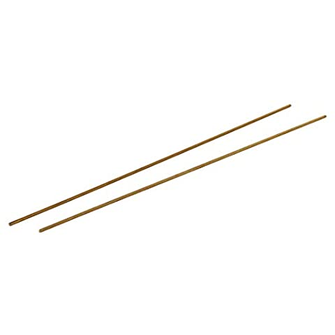 sourcingmap M2.5 x 250mm Male Threaded 0.45mm Pitch All Thread Brass Rod Bar Studs 2 Pcs