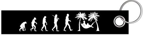 Urlauber Haengematte Palmen Evolution Schlüsselanhänger Schlüsselband Keyholder Lanyard (Urlauber)